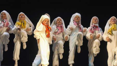 Children dancing in bunny costumes Editorial