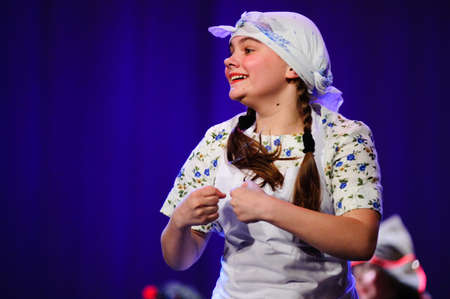 fanatical: Childrens dance ensemble, Dance Lenin so young in the spirit of Soviet Socialist Revolution, St. Petersburg, Russia.