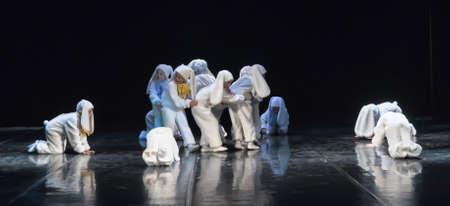 improvisation: Children dancing in bunny costumes Editorial