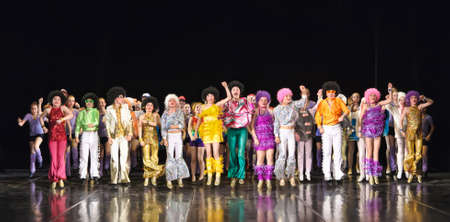 Dance performance on stage, Festival of childrens dance groups, St. Petersburg, Russia.