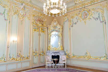 interiors: interiors of the old palace