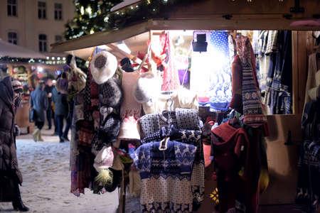 town hall square: Tallinn Christmas market held on the the Town Hall Square in Tallinn. Editorial