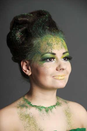 green creative makeup photo