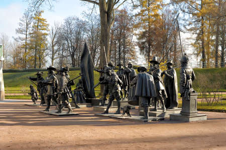 rembrandt: Tsarskoe Selo, Night watch - a sculptural composition on the painting by Rembrandt