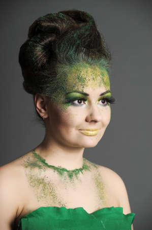 green creative makeup photo