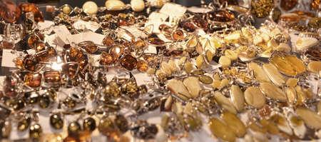 pendants: Pendants made of amber Stock Photo
