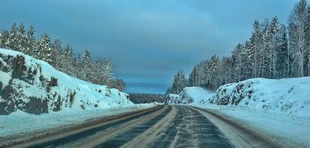 winter road: Winter road.