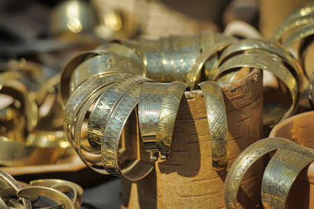 saraybosna: copper bracelets Stock Photo