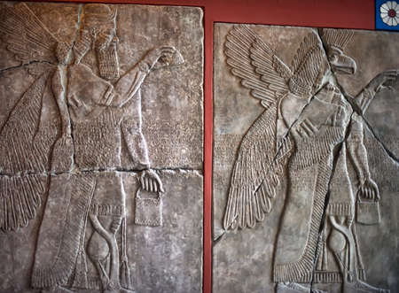 glorify: Mesopotamian art war intended to serve as a way to glorify powerful rulers and their connection to divinity. Editorial