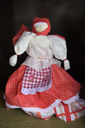 slavic: Handmade folk doll. Traditional toy for Slavic.