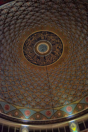 Painting on the ceiling in the mosque, Turkey.