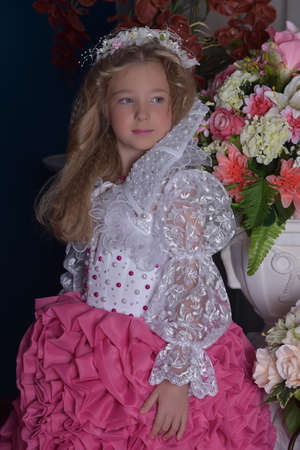 toyshop: Young princess among the flowers