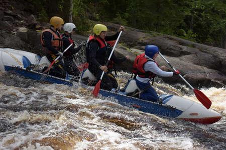 katun: Rafting the rapids on the river Uksunoki, Karelia, Russia.