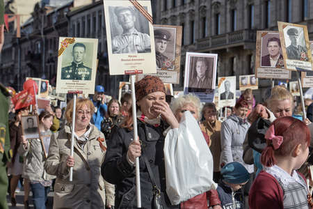 immortal: Immortal regiment at the victory parade