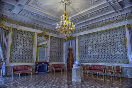 marble palace: Interior of Marble Palace. Saint Petersburg, Russia. Editorial