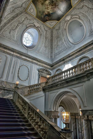 marble palace: Staircase Marble Palace, St. Petersburg, Russia.