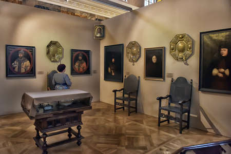 well made: Exhibition of painting Peter the Great. Time and Places of the Russian Museum, St. Petersburg, Russia. The exhibition includes portraits made in the Petrine era Russian artist Ivan Nikitin and Andrey Matveev, as well as outstanding masters Georg Gsell, Lo Editorial