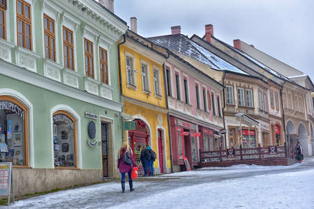 european: Streets of historical city of Kutna Hora in winter. The old town is protected by UNESCO and is visited by tourists during the high season.
