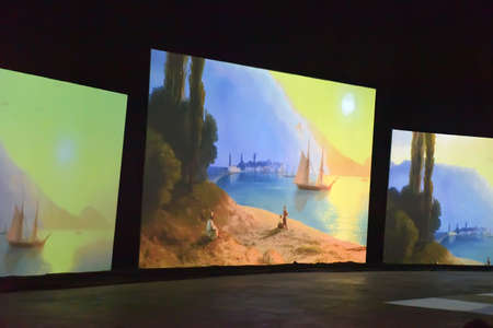 atraction: Multimedia exhibition of Aivazovsky and marine painters, St. Petersburg, Russia