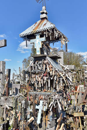 The hill of the Crosses (Kryžių kalnas) in Lithuania, one of the most important pilgrimage sights of the region and a national monument comemmorating Soviet oppression. Editorial
