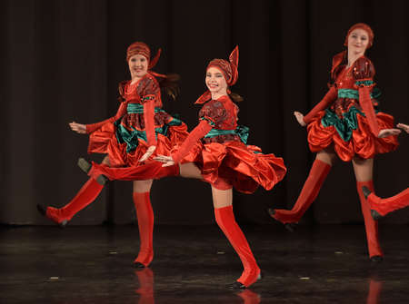 bulgaria girl: Performance of childrens dance group, St. Petersburg, Russia. Editorial