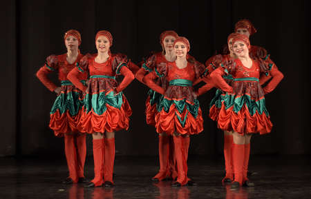 Performance of childrens dance group, St. Petersburg, Russia. Editorial