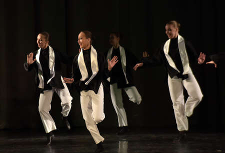 jewish group: Stage performance of contemporary dance group, St. Petersburg, Russia.