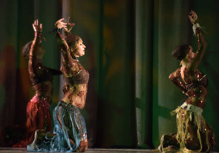 Oriental dance on stage Editorial
