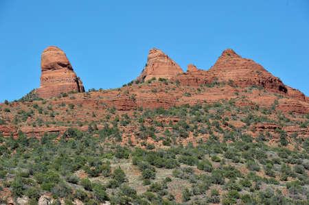 flagstaff: Landscape view of Boynton Canyon area in Sedona Sedona is an Arizona desert town near Flagstaff thats surrounded by red-rock buttes, steep canyon walls and pine forests.