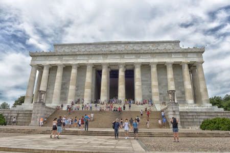 honest abe: Lincoln Memorial in Washington DC on summer day.