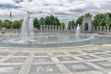 colonnade: Second World War Memorial in Washington DC. Editorial