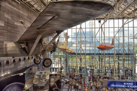 National Air and Space Museum à Washington Banque d'images - 61974356