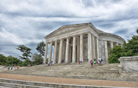 Color photo of the Jefferson Memorial.