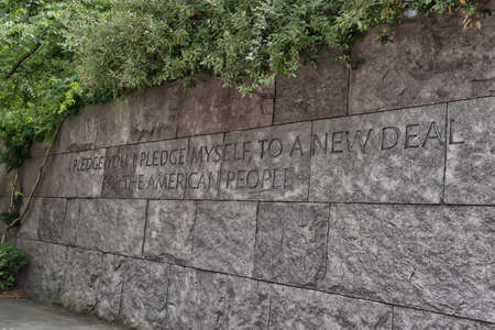 Quotation in the Franklin Delano Roosevelt Memorial in Washington DC.