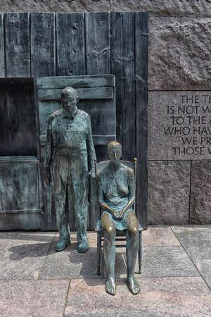 evocative: Appalachian Couple FDR Memorial Washington DC