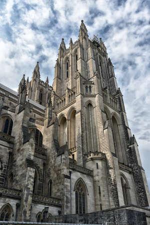 Exterior of the Washington National Cathedral in Washington DC Stock Photo