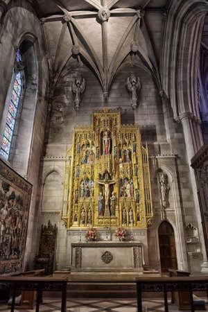 ワシントン国立大聖堂インテリア、DC、アメリカ合衆国。