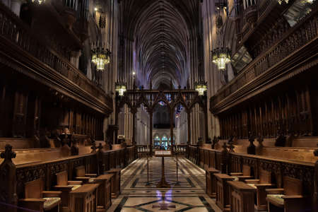 Choir area, Washington National Cathedral or Cathedral Church of Saint Peter and Saint Paul in the diocese of Washington