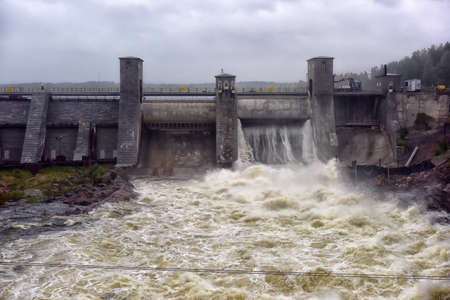 hydroelectric station: Hydroelectric power station in Imatra - Imatrankoski, Finland.