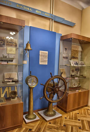 Military-Historical Museum of the Pacific Fleet, Vladivostok. Russia. The Museum of the Pacific Fleet was opened in 1950 and was initially located on the premises of the Lutheran church. Almost half a century later, however, its exposition moved to the an Stock Photo - 73911702