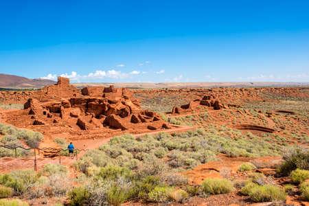 Wukoki ruins in Wupatki National Monument near San Francisco Peaks, Flagstaff, Arizona. Stock Photo