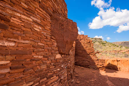 The Wupatki Pueblo is the largest native american ruins at Wupatki National Monument in northern Arizona