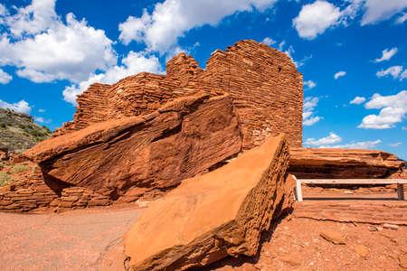 Wupatki Pueblo at Wupatki National Monument in northern Arizona Stock Photo