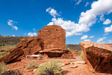 The ruins of the Wupatki Pueblo