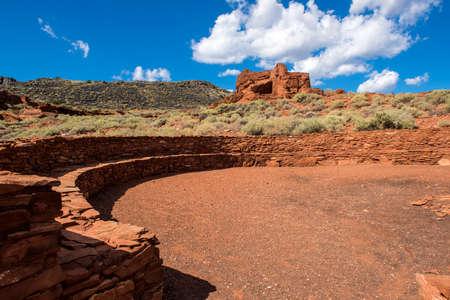 anasazi ruins: Wupatki National Monument in Arizona.