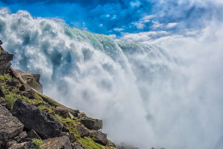 The famous Niagara Falls of the United States. Stock Photo