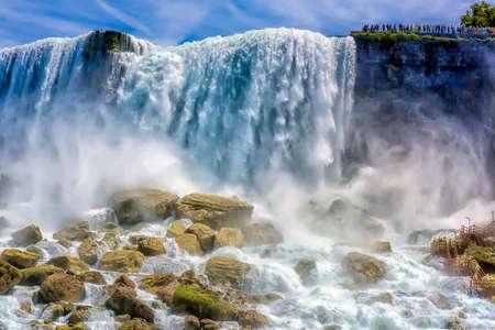 The famous Niagara Falls of the United States. Standard-Bild