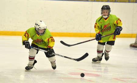 icehockey: Childrens ice hockey tournament, Russia Editorial