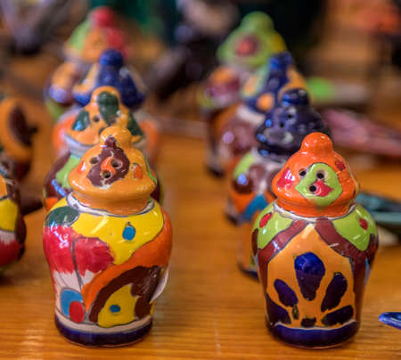 Merchandise on a shelf at an indian reservation in new mexico. Stock Photo