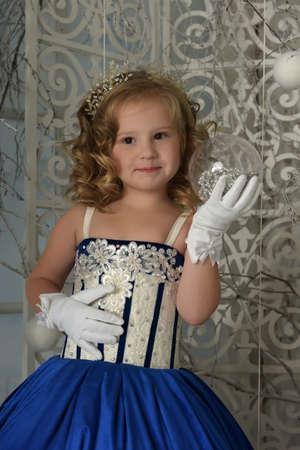 blue velvet: Little girl in a blue velvet dress
